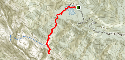 Spineback via Big White Trail Map