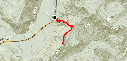 Gunsight Butte Trail Map