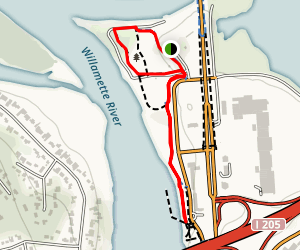 Clackamette Park Loop Map