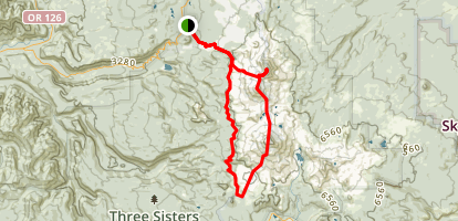 Three Sisters Loop Trail Map