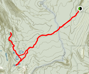 Seven Lakes Basin And Sky Lakes Trail Map