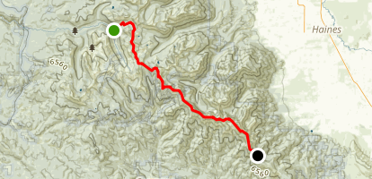 North Fork John Day Wilderness: Elkhorn Crest Trail Map