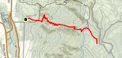 Cook's Ridge Trail Map