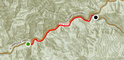 North Umpqua Trail: Mott Segment Map