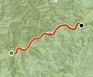 North Umpqua Trail: Mott Segment [CLOSED] Map