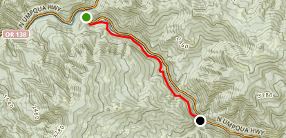 North Umpqua Trail: Panther Segment Map