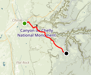 Canyon de Chelly National Monument Map