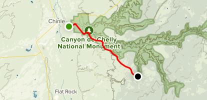 Canyon De Chelly Map Canyon de Chelly National Monument Scenic Drive   Arizona | AllTrails