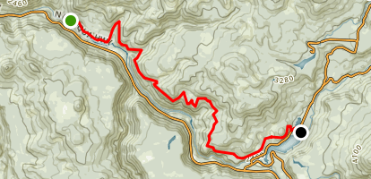 North Umpqua Trail: Deer Leap Segment Map
