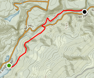 North Umqua Trail: Hot Springs Segment Map