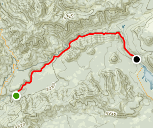 North Umpqua Trail: Dread and Terror Segment Map