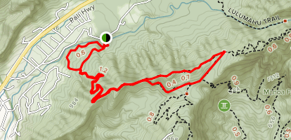 Nuuanu Trail Map