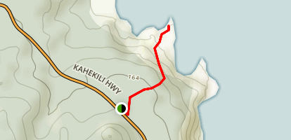 Olivine Pools Trail Map