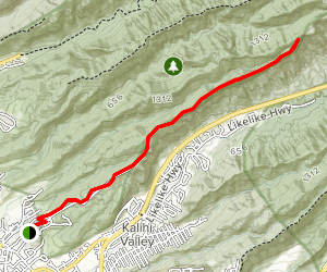 Fort Shafter Ridge and Bowman Trail  Map