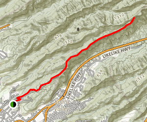 Fort Shafter Ridge Trail Map