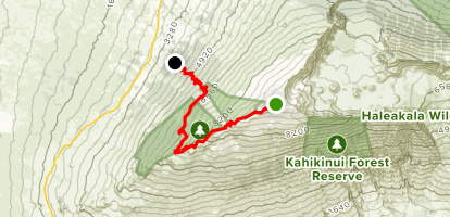 Haleakala Ridge Trail Map