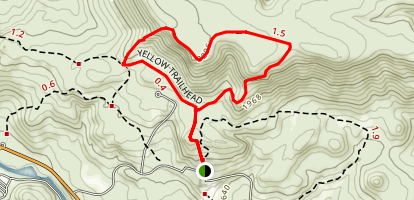 Yellow Trail from Kah-Nee-Ta Resort Map