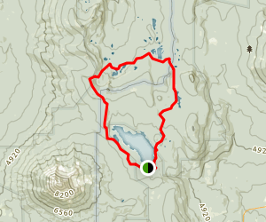 Four Mile Lake Loop Trail Map