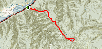 Benson Plateau Trail to Wahtum Lake Loop Map