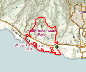 Wilder Ridge, Baldwin, Ohlone Bluff and Old Cove Landing Trail Map
