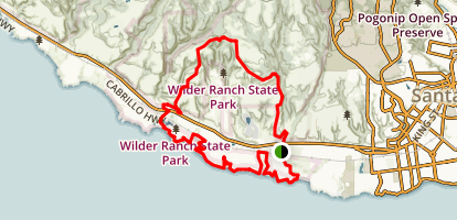 Wilder Ridge to Baldwin to Ohlone Bluff and Old Cove Landing Trail Map