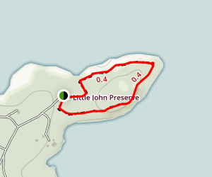 Littlejohn Island Loop Trail Map