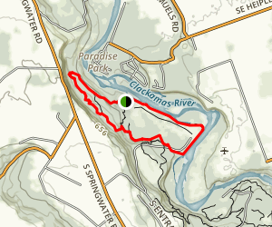 Clackamas Riverbend Trail Loop Map