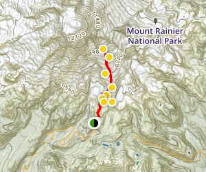 Muir Snowfield Ski Tour Map