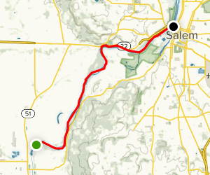 Willamette River: Independence to Salem Map