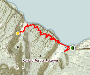 Waiilikahi Falls Trail Map