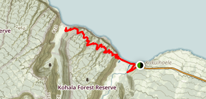 Muliwai and Waimanu Valley Trail Map