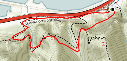 Cabin Creek Falls and Lancaster Falls Trail Map