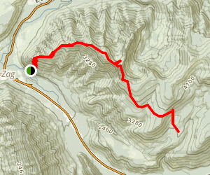 West Zigzag Mountain Trail Map