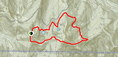 Tannen Lakes Loop Trail Map