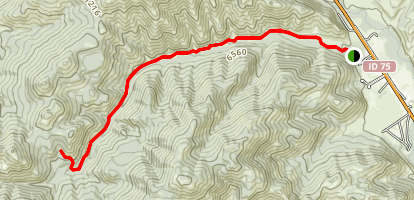 Oregon Gulch Trail Map