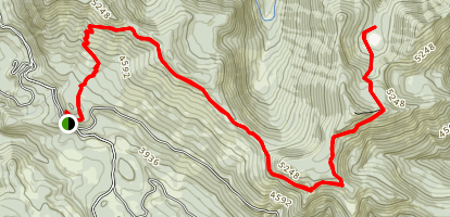 Browder Ridge Trail to Heart Lake Map