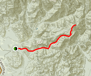 Sage Peak via Red Rock Canyon Trail Map