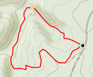 Hickory Canyons Natural Area Trail Map
