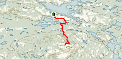 Silver Peak from David Lake Map