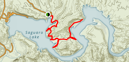 Butcher Jones Trail Map