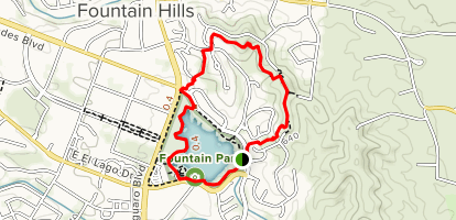 Fountain Lake Overlook Loop Trail Map