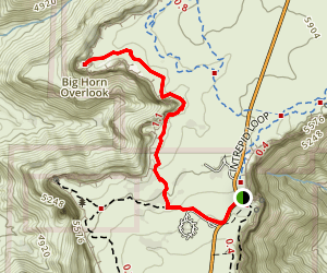 Big Horn Overlook Trail Map
