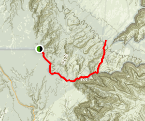 Dog Saddl to Saddle Mountain Trail Map
