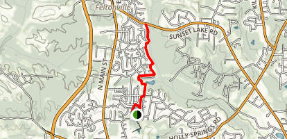 Holly Springs Greenway Map