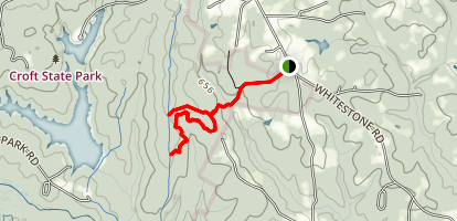 Upper Rocky Ridge Trail Via Whitestone Springs Trail Map