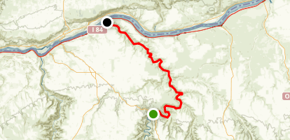 John Day River: Cottonwood Bridge to Columbia River Map