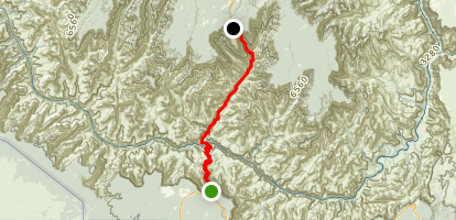 South to North Kalbab Trail Map