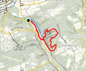 Harmony Hill Nature Area Loop Map