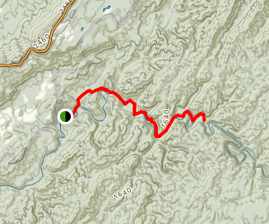 Abrams Falls Via Cooper Road and Little Bottoms Trails Map
