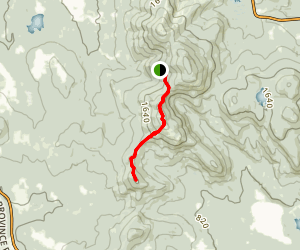 Piper and Whiteface Mountains Trail Map